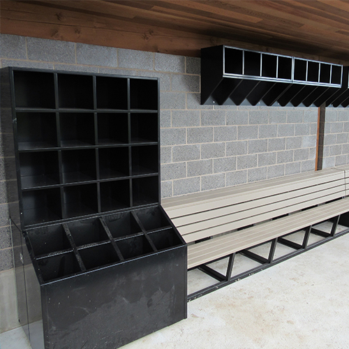 All-Weather Aluminum Bat & Helmet Storage Units