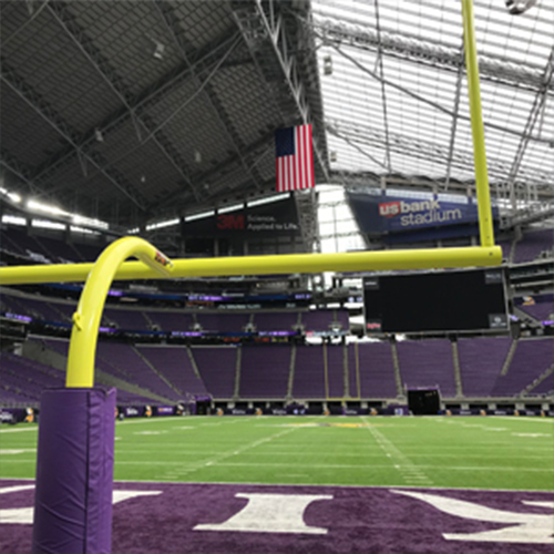 AdjustRight® Plate Mount Football Goal Posts