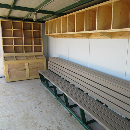 Natural Wood Bat & Helmet Storage Units